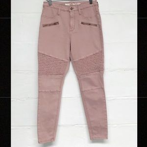 💥SALE💥Mossimo dusty rose colored moto jeggings💕